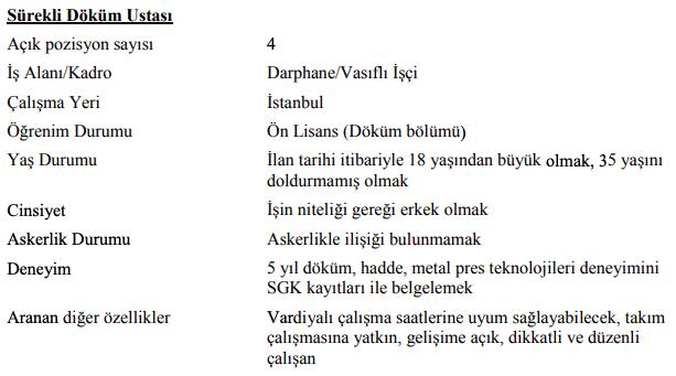 Darphane ve Damga Matbaası Genel Müdürlüğü 47 İşçi Personel Alımı İlanları 1