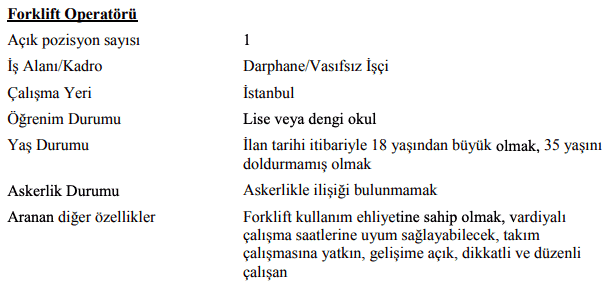 Darphane ve Damga Matbaası Genel Müdürlüğü 47 İşçi Personel Alımı İlanları 12