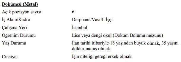 Darphane ve Damga Matbaası Genel Müdürlüğü 47 İşçi Personel Alımı İlanları 6
